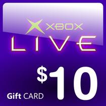 Tarjeta Xbox Live 10 Dolares Cuenta Usa