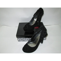 Zapatos Tacon Mujer Stilletto Plataforma Gamuza