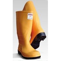 Botas En Pvc Amarillas Puntera Seguridad Sanitizadas Caucho