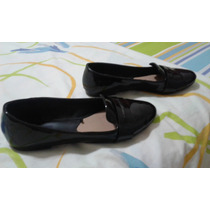 Zapatos Marca Stradivarius Talla 37 Negro-charol