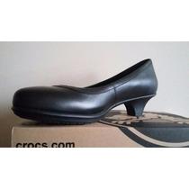 Crocs Mujer Zapatos Tacon Trabajo Altos Cuero Suaves 8.5 Usa