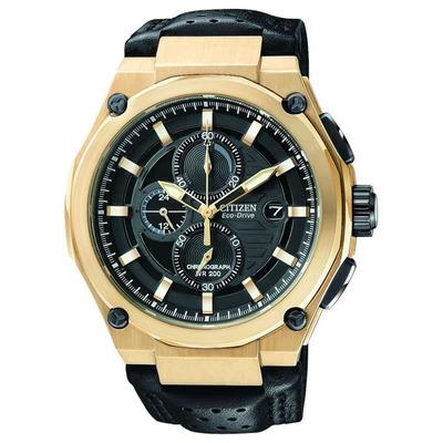Reloj Citizen Eco Drive Cuero Cron 243 Grafo Hombre Ca0313 07e