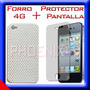 Protector De Pantalla + Forro Iphone 4 Screen Sticker Case | LA_TIENDA