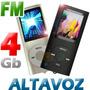 Mp4 4gb Altavoz Radio Fm Puerto Microsd Expandible Graba Voz | JACANAS.
