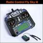 Radio Fly-sky Fs-i6 2.4ghz De 6 Canales 1 Kilometro Alcance