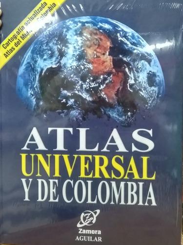Atlas Universal De Colombia A Color Con Cartilla Y Afiche