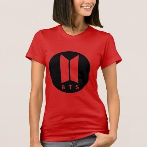 Camiseta Grupo Kpop Bts Doble Imagen