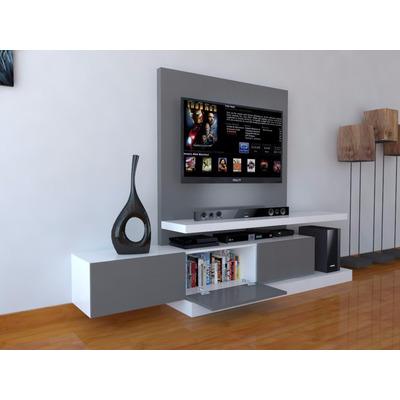 Mueble Para Tv Con Mural Para Ocultar Cables Ref Mural16