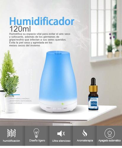 Difusor Aromas Para Aceites Esenciales, Ultrasónico De 120ml