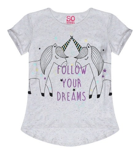 Camiseta Estampada Mujer- So Young