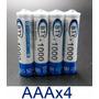 4 Pilas Baterías Aaa Recargables 1000 Mah Ni-mh Nuevas | ALBERTOGOMEZ549